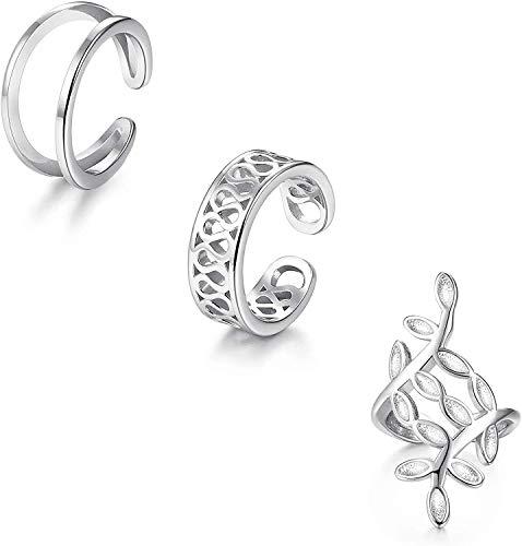 Adramata 925 Sterling Silver Non Pierced Ear Cuff Earrings Handmade Helix Cartilage Piercing Jewelry Fashion Wrap Ear Cuff Earrings for Women
