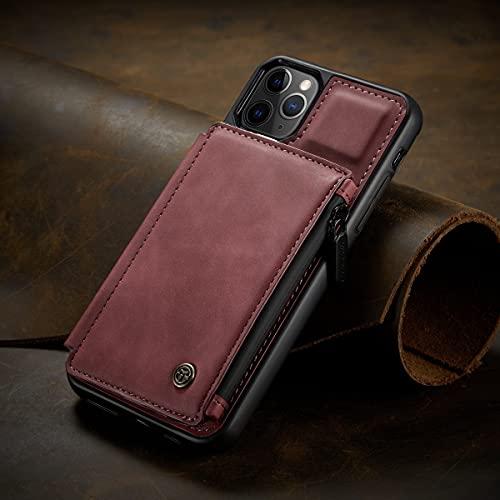 RZL fundas para teléfono celular para iPhone 13/13 Mini /13 Pro Max 2021, moda cremallera monedero caso Max cuero cartera cubierta anti-golpe lujo fundas para iPhone 13 Pro