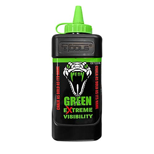 CE Tools Mean Green Extreme Visibility Marking Chalk - Fluorescent Green 10 oz (283.5g)