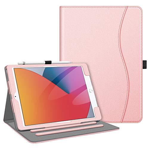 Fintie iPad 8 ケース 2020 iPad 10.2 ケース 第7世代 2019 / 第8世代 2020 保護カバー 2つ折スタンド マルチ視角 オートスリープ機能付き 傷つけ防止 PUレザー iPad 10.2インチ(2020/2019) (モデル番号A2197、A2198、 A2200)(ローズゴールド)