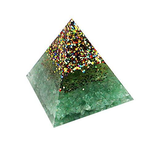 Janly Clearance Sale Decoración para el hogar, bricolaje de amatista natural piedras naturales con generador de energía con punta de cristal, para Navidad hogar y jardín, (verde)