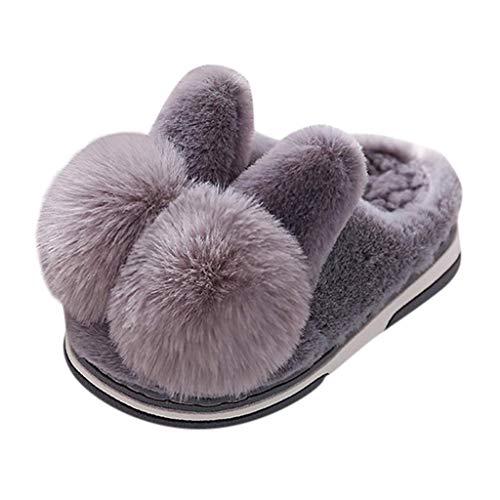 JFFFFWI Zapatos para Mujer Pisos Cómodo Suave Dibujos Animados Invierno Cálido Zapatilla Interior Zapatos