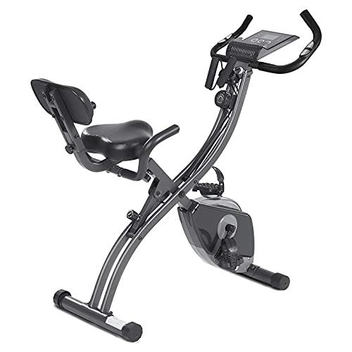 BETTER ANGEL LE Bicicleta Estatica de Spinning Profesional Bici Ejercicio con Soporte para iPad, Monitor LCD y cómodo cojín de Asiento, Bicicleta Indoor, Speedbike con Sistema de bajo Ruido