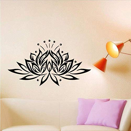 Buddhism Lotus Wall Stickers Vinyl Removable Self Adhesive Stickers Home Decor Living Room Wall Decals 37X65Cm