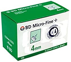 BD Micro-Fine Pen Needle - 32g - 0.23mm x 4mm - by BD Medical