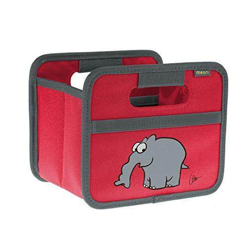 Ruimtebesparende opvouwbare box met handgrepen en een vak met elastische netvakken, draagvermogen 30 kg.