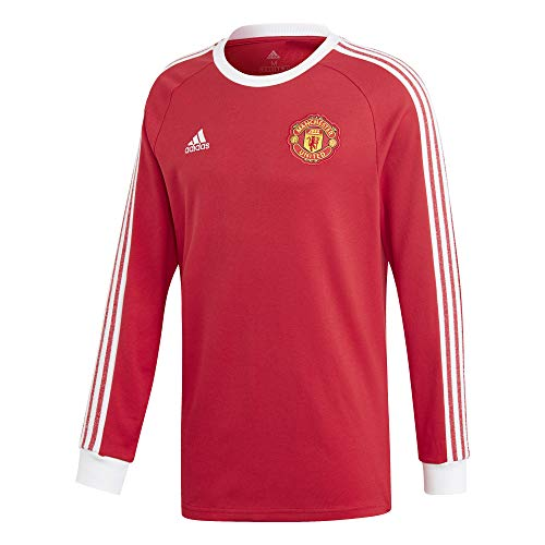 adidas Adult Manchester United Icons Tee Red/White - Adult Large - FR3853
