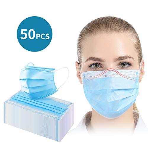 Traje de Gasa de Tres Capas de Espesamiento a Pprueba de Polvo Protección Facial Desechable (50PCS)