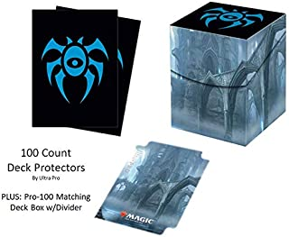 Guilds of Ravnica GRN House Dimir Deck Protector & Deck Box Combo (100 Count) for MTG