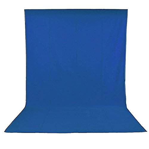 Neewer 10084197 - Sfondo fotografico pieghevole in mussola 100%, Blu, 1.8 x 2.8 m