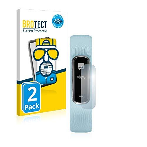 BROTECT Full-Cover Schutzfolie Matt kompatibel mit Garmin Vivosmart 4 (2 Stück) - Full-Screen Bildschirmschutz-Folie, 3D Curved, Anti-Reflex