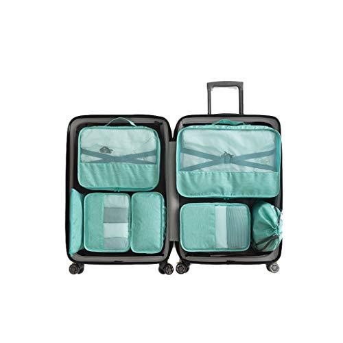 7 Teile/Set Gepäck Aufbewahrungstasche Zähler Aufbewahrungsbox Set Gepäck Aufbewahrungstasche Reise Wäschesack Verpackung Set (Color : A)