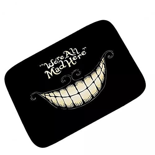 N/A Felpudo Entrada Alfombra de Anime Alice Smile Alfombra de Piso Alfombra de Juego Alfombra Country Club Niños Niñas Dormitorio Sala de Juegos Área de Campo de césped-16x24 Inch