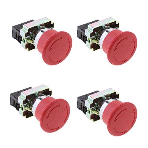 Milageto XB2-BS542 - Interruptor de emergencia para seta (4 unidades)