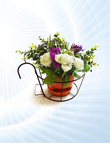 Support à plantes Présentoir à fleurs Continental Fer Rampes fleurs, baies Hanging Orchidées Pots étagère, Windowsill Balcon usine rack matériaux de haute qualité (Couleur: Bronze), Nom Couleur: Noir