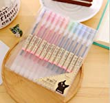 Colorful Gel Pen [12 in a Pack] - 0.5 mm Fine Tip Pen with Non Toxic, Odor Free, Neutral Gel Ink. Office...