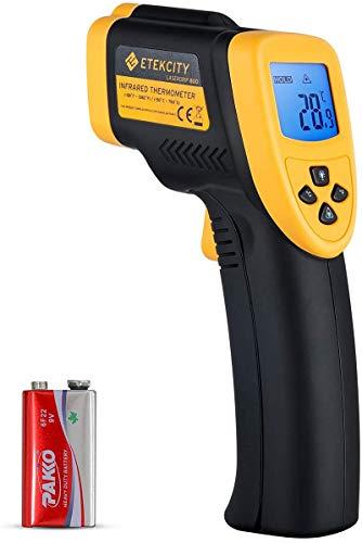 Etekcity Digital Laser Infrarot Thermometer IR Pyrometer berührungslos Temperaturmessgerät Temperaturmesser, -50 bis +750°C, LCD Beleuchtung (Nicht für Menschen)