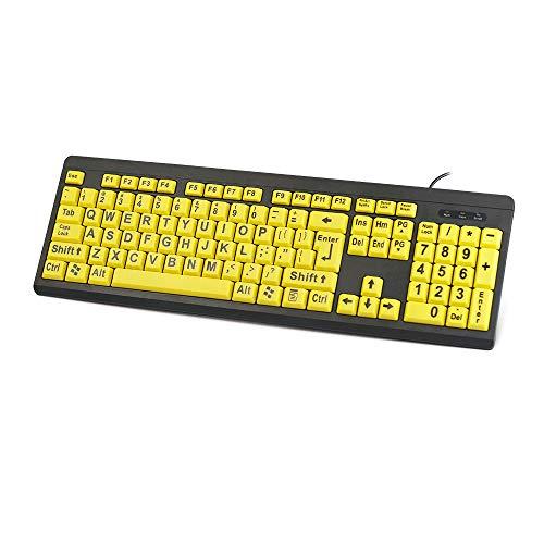 Computertoetsenbord met grote toets slechtziend B-toetsenbord met grote druk