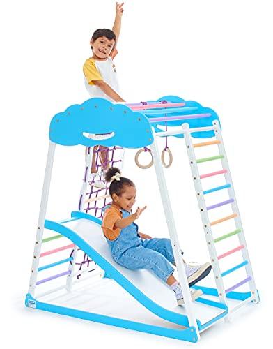Indoor Playground Toddler Climber Slide – Kids Jungle Gym Playset – Activity Toddler Climber...