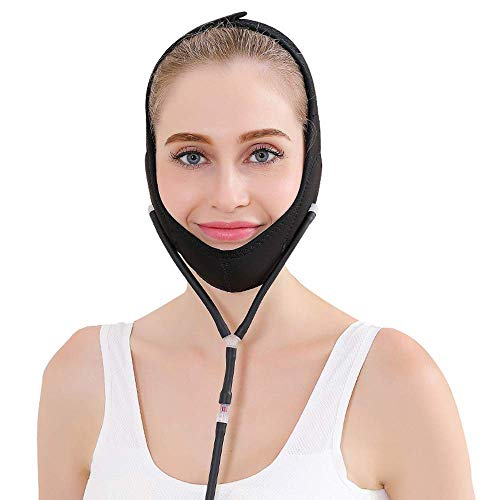 Masques pour Le Visage Bandage pour Le Visage V Shaper Facial Minceur Détente Lift Up Belt Réduire Double Menton Masque Visage Bande Amincissante,Black