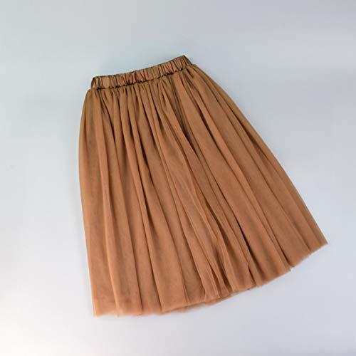 Tutus voor dames, lange rok voor dames, eenkleurig, vouwrok, dames
