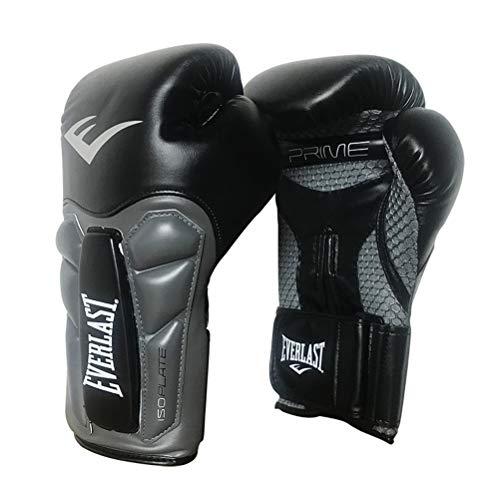 QJQJ Boxhandschuhe 10 Unzen 12 Unzen 14 Unzen 16OZ Sparring Profi Muay Thai Kickboxen Training Kampf Schlags-Handschuhe Schutzlederhandschuhe Kampf,Schwarz,14OZ