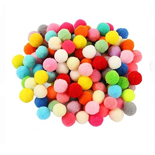 Adkwse Pom Poms- 500Pcs 1 Inch Pompoms Balls Assorted Arts and Crafts for DIY Creative Decorations