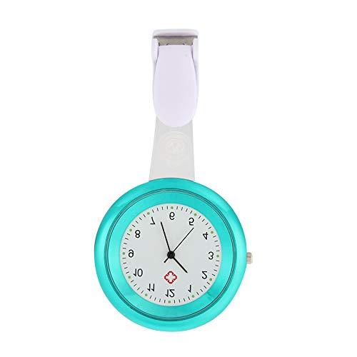 ieenay Reloj de Enfermera con Broche de Silicona, diseño de Control de infecciones, para Enfermera, médico, paramédico, Broche,Moda para Mujer Enfermera con Clip Reloj de Bolsillo Colgante,Broche
