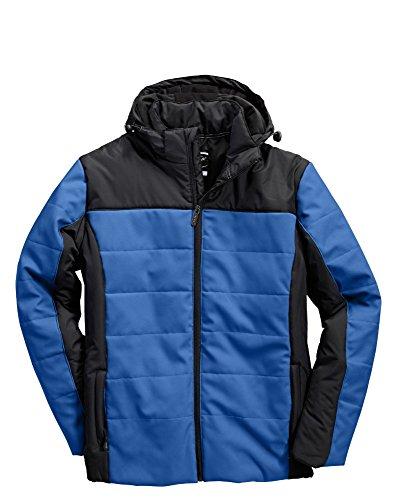 Berufsbekleidung24, Jacke, KORSAR High-Q Winterkapuzenjacke, royalblau-schwarz, Größe XL