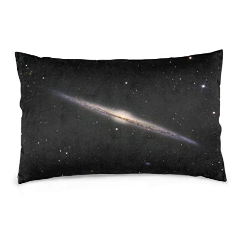 XIEXING Pillow Case Galaxy Printed Pillow Cases Soft Chair Seat Bedding Pillowcase Coffee Shop Home Decor 14'' X20