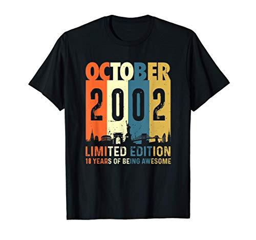 Edición limitada para 18 años, nacido en octubre 2002 Camiseta