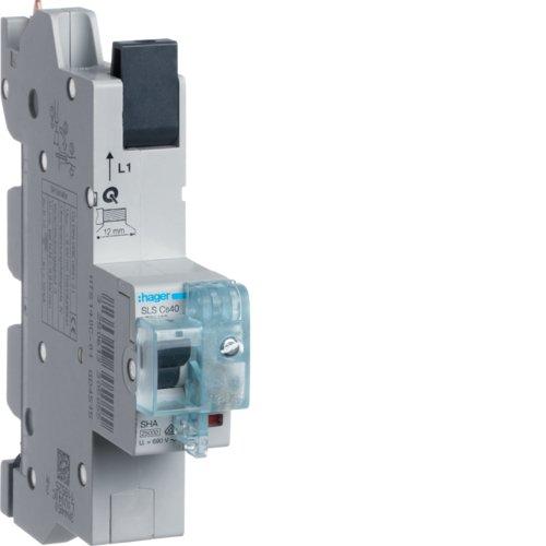 Hager HTS140C SLS-Schalter 1P Cs 40A f. Sammelschiene