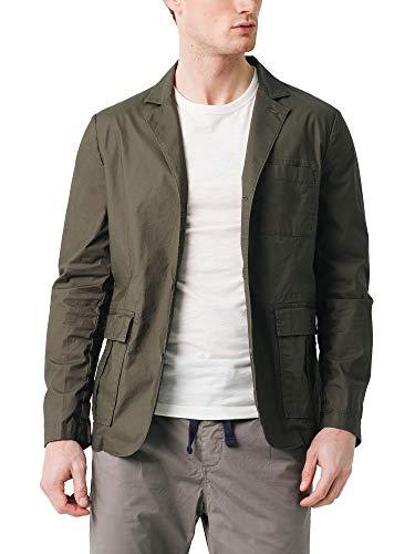 Scalpers Rich Blazer - Blazer para Hombre, Color Verde Militar, Talla 56