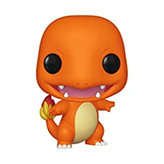 From Pokemon, charmander, stylized as a pop! Vinyl from Funko! Figure stands 3.75 inches tall and comes in a window display box! Catch all the Pokemon from Funko!