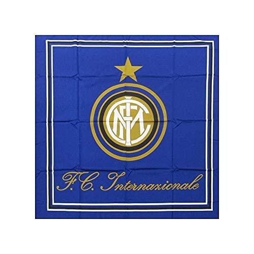 Bandierone INTER Ufficiale Bandiera grande cm. 140 x 140 F.C.Internazionale BGQINBLCH