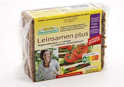 Mestemacher Leinsamen plus Roggenvollkornbrot, 9er Pack (9 x 500g)
