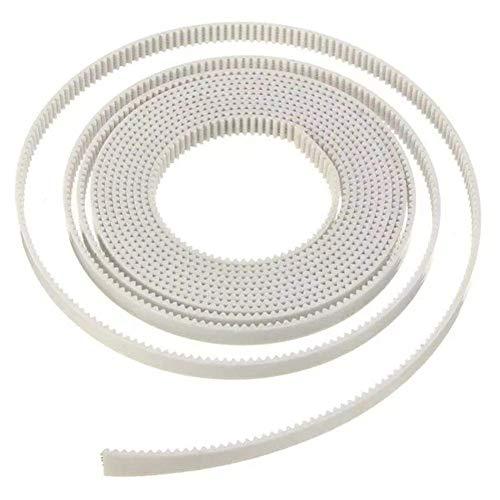 LONGJUAN-C 3D printer accessories, Width 6mm 2M GT2 2GT White Open Timing Belt For 3D Printer printer 3D Printer