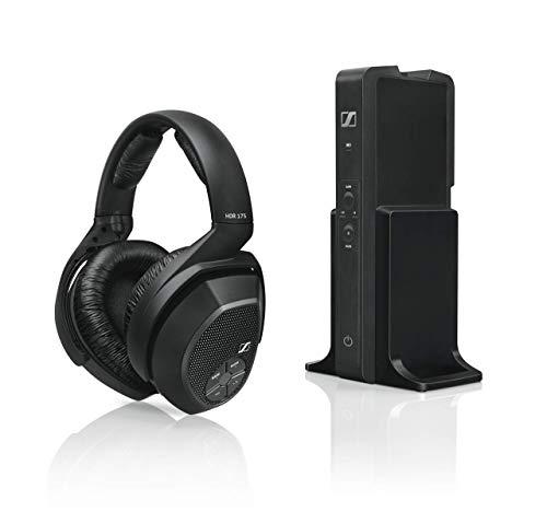 Sennheiser RS175-U Digitales Funkkopfhörersystem & Amazon Basics Toslink Optisches Digital-Audiokabel, 1,8 m