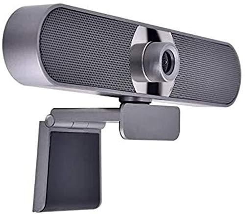 HD 1080p Camera Webcam, Widescreen Video Calling and Recording, Desktop or Laptop Webcam (Color : Gray)