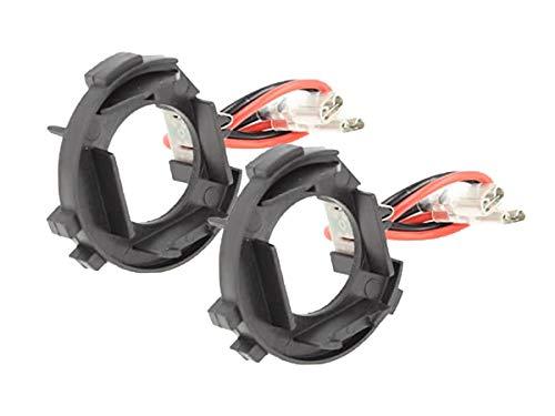 CARALL AL0016 2 PZ Portalampade Kit Full Led e Kit Hid Xenon H7 Auto Alimentazione Con Spina