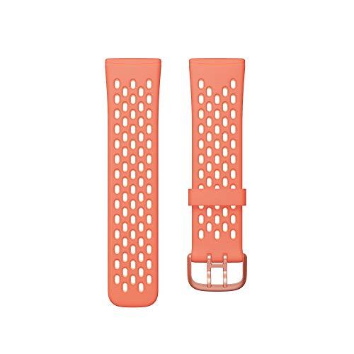 Fitbit Unisex-Adult Versa 3/Sense Watch Strap, Melone/Rose, Small