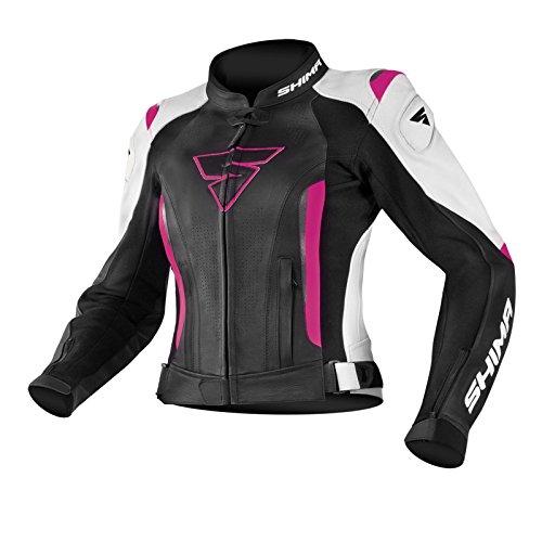 SHIMA MIURA JACKET sportbescherming met ugodames motorfiets lederen pak voor vrouwen MIURA JACKET FUCHSIA 34 34 EU fuchsia