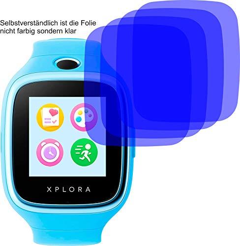 4ProTec I 6X Crystal Clear klar Schutzfolie für XPLORA 3S Bildschirmschutzfolie Displayschutzfolie Schutzhülle Bildschirmschutz Bildschirmfolie Folie