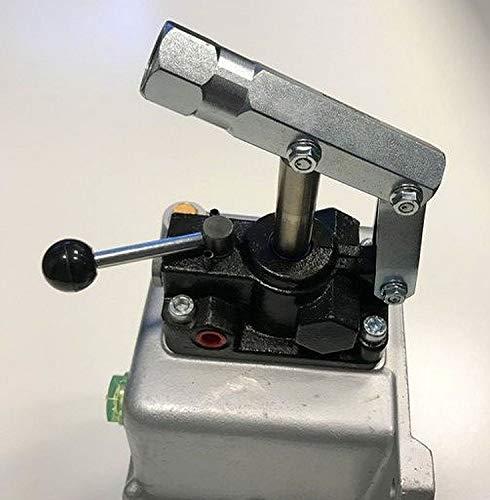 Uzman-Versand 45ccm Hydraulik Handpumpe mit 1 liter Hydrauliktank doppeltwirkend + Handhebel, Hydraulikpumpe Hydraulische Hand-Pumpe Hydraulikhandpumpe hydrauliköl