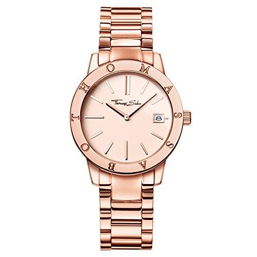 Thomas Sabo 32001567 - Reloj de pulsera para mujer (redondo, analógico, cuarzo, acero inoxidable)
