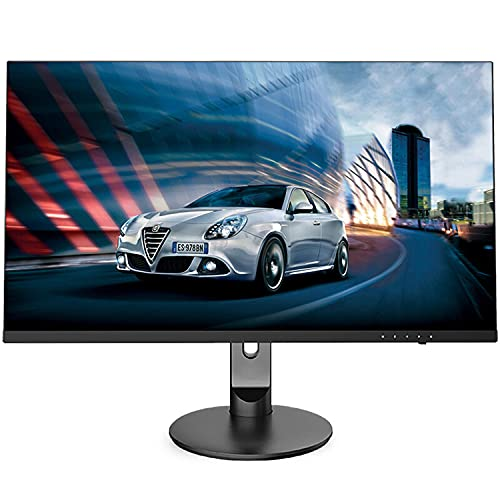 YUTAO Design IPS Che Solleva E Ruota Il Monitor LCD Professionale per Computer con Grafica Stretta 2K Ad Alta Definizione, Interfaccia HDMI, VGA, DP, Interfaccia Audio