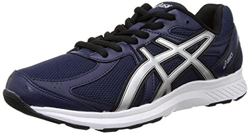 ASICS Men's Road Jog Peacoat/Pure Silver Running Shoe-8 Kids UK (1011B247.401)