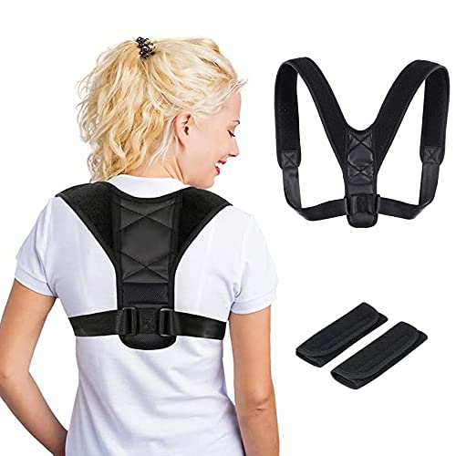 EasyULT Corrector Postura Espalda y Hombros para Hombre y Mujer, Corrector de postura espalda y hombros, Correctores Postural Faja, Posture Corrector Aliviar la Joroba(incluye 2 Hombreras) ⭐