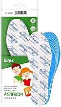 Cut to Fit Cut to Size Adjustable Soft Hygienic Kids Shoe Insoles Latex Foam Swiss Antibacterial Tehchnology by Sanitized | Shoe Pads Excelent Air Circulation Kaps Actifresh All Sizes Made in Europe