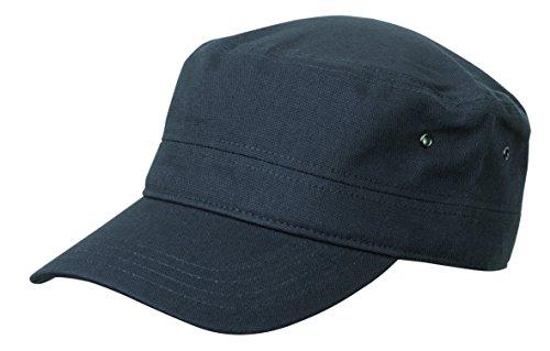 2Store24 Cap im Military Stil aus robustem Baumwoll Canvas - Military Cap in anthrazit